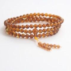 琳福珠宝  缅甸蜜蜡 108棕红珀手链6毫米女士手串(国检证书)