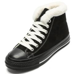 贝贝女鞋羊津绒棉鞋女冬鞋2019冬季新款加绒加厚保暖棉鞋