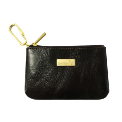安特丽英国品牌纯色真皮轻巧耐磨零钱包
