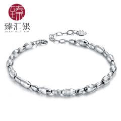 臻汇银 S925银手链女日韩转运珠银手链