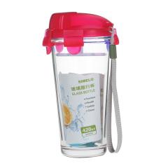 SIMELO 玻璃杯 首尔风情 可携带旅行杯红色