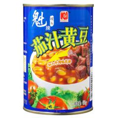 魁牌茄汁黄豆罐头 425克*6罐