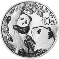 2021年熊猫银币