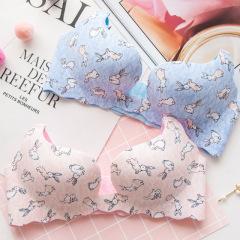 萌娜莉 SW0072 文胸新款无痕一片式无钢圈日系隐形芒果杯胸罩聚拢少女内衣