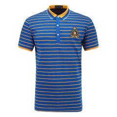 皇家棕榈马球俱乐部 男短袖条纹休闲POLO衫翻领男士T恤13524105