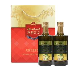 芭斯蒂安特级初榨橄榄油食用油烹饪凉拌调味油橄榄油 尊选装 500ml*2