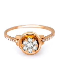 芭法娜 花荀 法式简约18K金钻石戒指 一款两戴 可以做吊坠可以当戒指 来自法国的时尚品牌