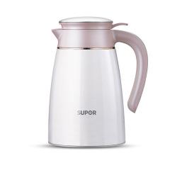 苏泊尔保温壶家用不锈钢真空暖壶1.6L大容量樱花粉