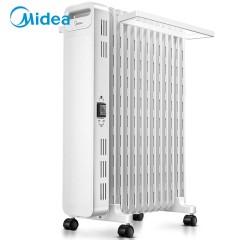 美的 HYX22N取暖器电暖器电暖气片家用节能省电静音加湿烘衣13片大面积劲暖电热油汀