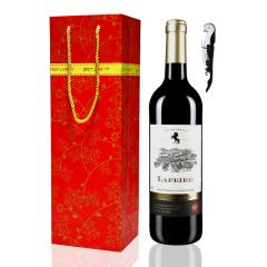 拉斐尔红酒 法国原瓶进口干红葡萄酒 单支配礼袋 送开瓶器 750ml