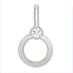 施华洛世奇Swarovski银色镶水晶挂件饰品钥匙扣1128451