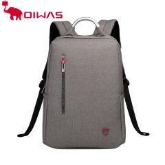 爱华仕(OIWAS)商务电脑包14英寸男士多功能时尚双肩包 女休闲潮流书包背包