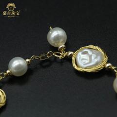 慕古 【一带一路外销款】设计款珍珠手链 MUXP2031507