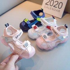 女童凉鞋2020夏季新款时尚儿童沙滩鞋软底防滑男童运动凉鞋包头鞋