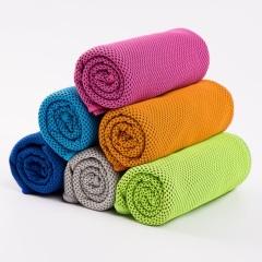 斜月三星夏季速干降温毛巾 成人专用运动冰凉巾 2条装