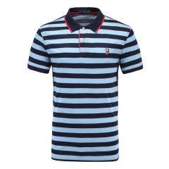 皇家棕榈马球俱乐部 男短袖条纹休闲POLO衫翻领男士T恤13528120