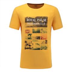 皇家棕榈马球俱乐部 短袖商务休闲圆领印花T恤男士T恤13522312