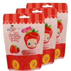 韩国进口帕克大叔草莓味果汁软糖3袋装