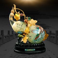 中艺盛嘉收藏品王习三米振雄葫芦景泰蓝内画八仙祝寿艺术品特色外事送礼