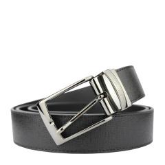 范思哲男士黑色格纹可裁剪针扣腰带V91007S VM00043 V000