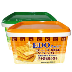 edo Pack芝士/柠檬味夹心饼干600g/盒