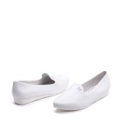 达芙妮(DAPHNE)尖头牛皮柔软舒适坡跟甜美蝴蝶结女单鞋1016101013