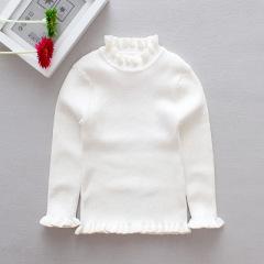 2020韩版童装秋冬季女童套头高领百搭毛衣打底纯色针织衫儿童毛衣