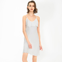 维多拉斯春夏新款女士仿真丝性感吊带时尚家居服女士睡衣睡裙908