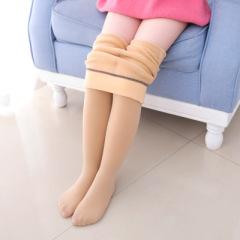 儿童可乐裤女童防污打底裤加绒加厚舞蹈袜锦纶羊羔高密冬季新款