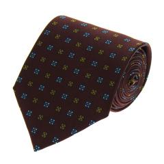 VALENTINO/华伦天奴 枣红色底花朵LOGO创意图案男士真丝领带 VCFAPM ST062