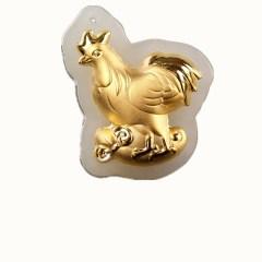 琳福珠宝  金镶玉十二生肖吊坠足金镶嵌和田白玉吊坠