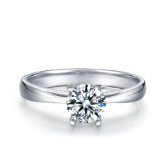 芭法娜 今生相伴 0.4ct/1粒 E色 VS2 铂金Pt950钻石戒指 订婚结婚戒指