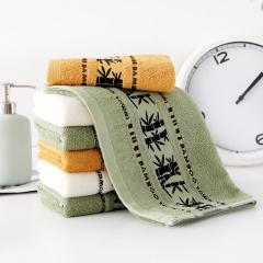 【家庭专用】斜月三星 3条装竹纤维毛巾  柔软吸水 35*75cm