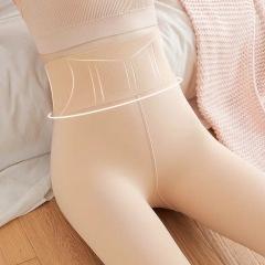 【买一送一】高腰加绒加厚光腿神器肉色显瘦黑色保暖大码胖mm打底裤子女
