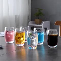 鼎匠水晶之恋耐热玻璃水杯6件套家用无盖喝水杯牛奶杯啤酒杯简约耐热茶杯