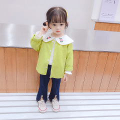 菲儿小屋 秋季女童披肩开衫清新三件套婴幼童儿童套装休闲洋气 女