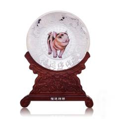 中国白银福运绵绵银盘