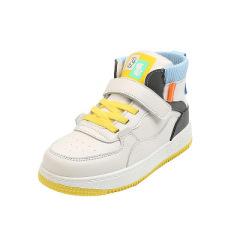 女童鞋子2020年秋冬新款儿童加绒运动鞋高帮时尚男童拼色中大童