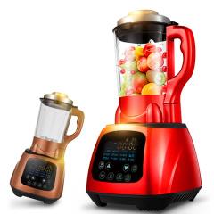 欧博(OPO)1802 破壁料理机加热 多功能家用榨汁机原汁机豆浆机 破壁机红色