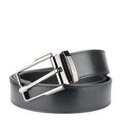 范思哲男士黑色可裁剪针扣腰带V91009S VM00046 V000
