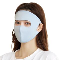 夏季面罩全脸防晒护额口罩男女冰丝面膜口罩防紫外线透气薄款面罩