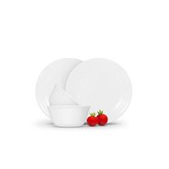 美国康宁白色餐具4件套·白色