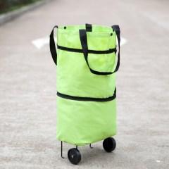 大容量伸缩折叠拖轮购物车 牛津布材质 颜色随机