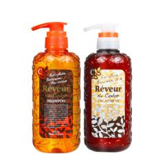 reveur日本进口无硅油洗发水温和控油去屑保湿滋润洗发护发套装(橙瓶)