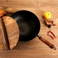 鼎匠赤焰系列 炒锅 传承600年古法工艺老铁锅 电磁炉燃气灶通用炒菜锅 老式手工厨具 32cm