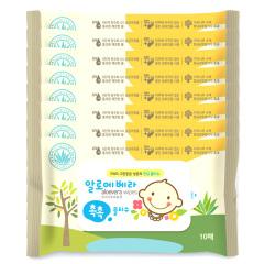 韩国原装进口木之惠Living芦荟婴儿湿巾8包装