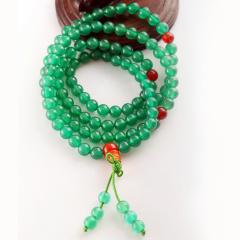 DODOBEL WOMAN天然绿玛瑙108粒佛珠手链