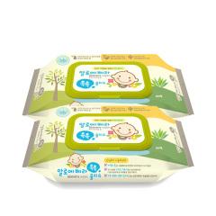 韩国原装进口木之惠Living芦荟婴儿湿巾2包装
