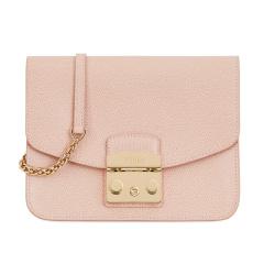 【香港直邮】Furla 芙拉 女士粉色皮革单肩包 941907