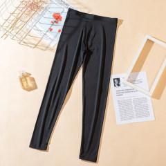 夏季新款小熊冰丝打底裤女士防晒凉凉裤弹力显瘦透气九分裤